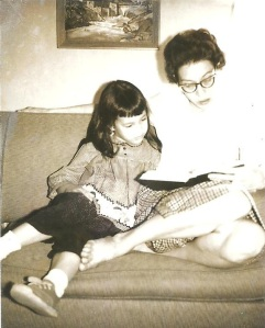 My mom, reading to me in1963. She taught me to love books.